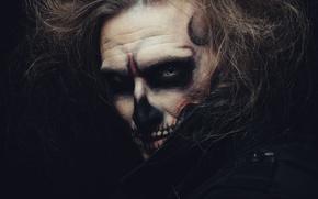 Картинка demon, shadows, Makeup