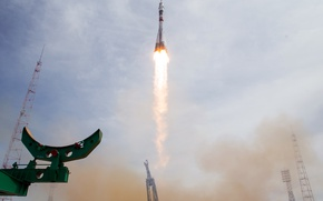 Картинка Kazakhstan, Baikonur, rocket launches, Soyuz MS-04, Cosmodrom