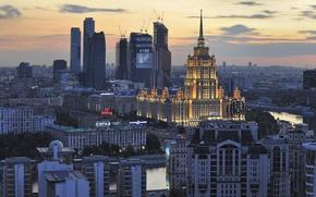Обои Дорогомилово, здания, панорама, Москва, река, Россия
