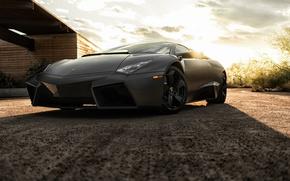 Обои ревентон, суперкар, Black, черный, ламборгини, Reventon, Lamborghini