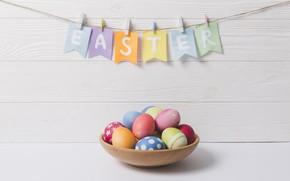 Картинка яйца, пасха, Праздник, Гирлянда, Флажки