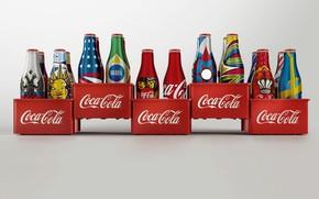 Картинка бутылка, напиток, история, Coca Cola, дизайт