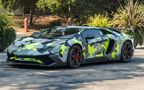 Обои Tuning, Lamborghini, Avendator, camouflage