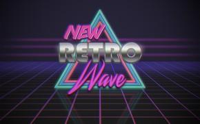 Картинка Музыка, Неон, Фон, Треугольник, Electronic, Synthpop, Synth, Retrowave, Синти-поп, Синти, Synthwave, Synth pop, New Retro …