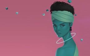 Картинка девушка, фантастика, арт, Venus Bambisa, Astral Cube