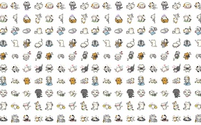 Картинка фон, настроение, минимализм, аниме, арт, котики, детская