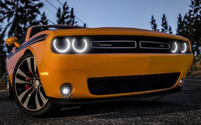 Картинка Dodge Challenger, GTA, Grand Theft Auto V