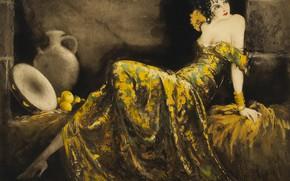Картинка 1939, Louis Icart, Веселая сеньорита