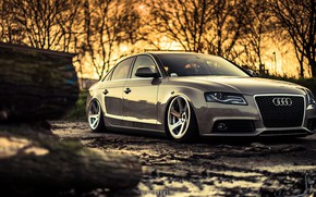 Картинка Audi, Вечер, Авто, Ауди, Машина, Грязь, Седан, Автомобиль, Sedan, Audi A4, Немец, Mike Crawat Photography, …
