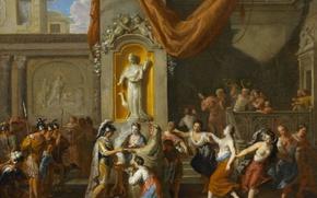 Картинка картина, история, жанровая, Жерар Хоет, Свадьба Александра Великого и Роксаны из Бактрии