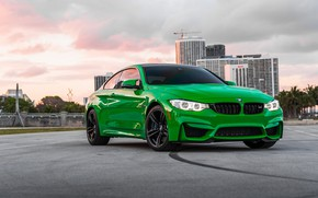 Картинка BMW, Light, Green, Frog, Sight, LED, F83