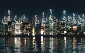 Картинка огни, здания, City Lights