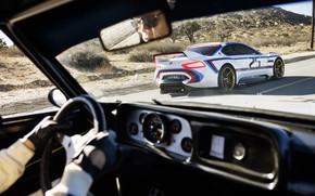 Картинка Concept, Авто, Рисунок, Машина, Салон, БМВ, Арт, Руль, Hommage, Bavarian, BMW 3.0 CSL, Торпеда, Hommage …