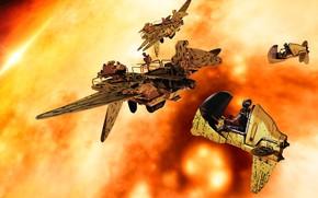 Картинка огонь, транспорт, Huntsmen
