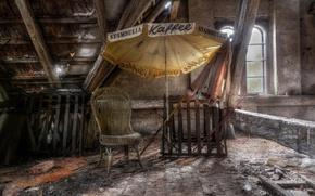 Картинка зонт, стул, Relax, чердак