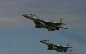 Картинка полёт, МиГ-29, ВВС России, MiG-29/35 Fulcrum, фронтовой истребитель