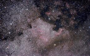 Картинка звезды, туманность, Nebula, North America