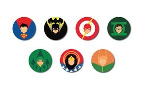 Обои Wonder Woman, Batman, bat, Green Lantern, Superman, Arrow, Diana, Bruce Wayne, Flash, Aquaman, Justice League, ...