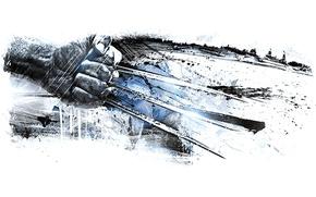 Картинка рука, арт, когти, Росомаха, Логан, Wolverine, X-Men, Logan, Marvel Comics, Люди Икс