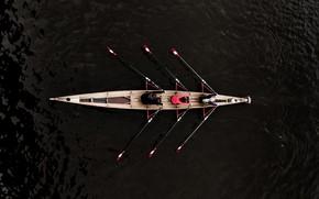 Обои спорт, люди, лодка, гребля