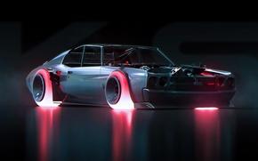 Обои Chevrolet, Concept, 1970, Future, Chevelle, by Khyzyl Saleem, Art