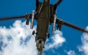 Обои Небо, Полёт, Пушка, Военный, Вертолёт, Ми-28Н, Миль, Ми-28, Mi-28N, Mi-28, Anton Harisov