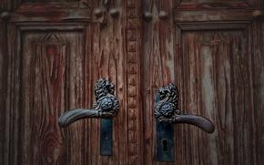 Картинка макро, фон, дверь