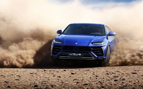 Обои New, VAG, Lamborghini, Urus, Sand, Blue