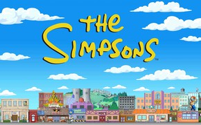 Картинка Симпсоны, Рисунок, Город, Simpsons, Арт, Мультфильм, The Simpsons, 20th Century Fox, Персонаж, Springfield, Мультсериал, Шоу, …