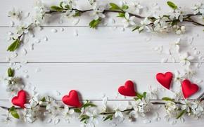 Картинка цветы, праздник, сердечки, день святого Валентина