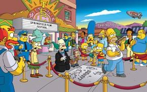 Картинка Симпсоны, Рисунок, Гомер, Мэгги, Maggie, Simpsons, Барт, Арт, Много, Лиза, Мультфильм, The Simpsons, Мардж, Карл, …