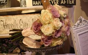 Картинка цветы, розы, букет, бутоны