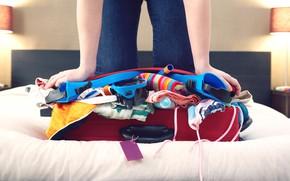 Картинка woman, bag, vacation