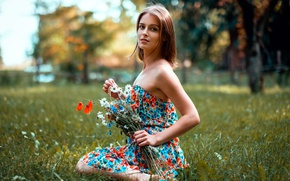 Обои букетик, цветочки, лето, взгляд, прелесть
