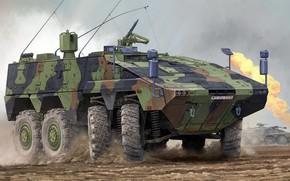 Картинка Boxer, Gepanzerte Transport Kraftfahrzeug Boxer, Боевая колёсная бронемашина, GTK, германо-нидерландское семейство, многоцелевых бронированных транспортных средств, …