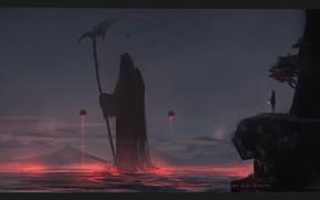 Картинка горы, смерть, готика, школьница, Aoi Ogata