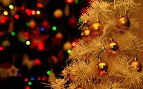 Обои фон, новый год, елка, игрушки