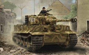 Обои Tiger I, Late Production, Война в Европе, World war II