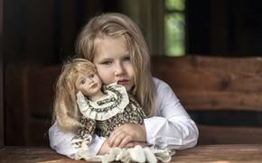 Картинка портрет, кукла, девочка