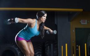Картинка girl, female, workout, fitness, gym