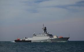 Картинка корабль, ВМФ, ракетный, малый, Черное море, Зеленый Дол