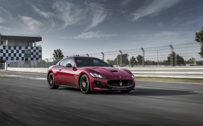 Картинка Maserati, Автомобиль, GranTurismo, Sport, Бордовый, Special Edition, 2017, Металлик