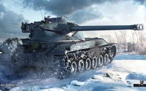 Картинка зима, снег, танк, средний, World of Tanks, французский, WOT, Bat.-Châtillon 25 t