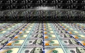 Картинка доллары, валюта, печатный станок