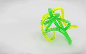 Обои зелёный, стекло, белый фон, жёлтый