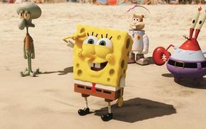 Картинка sand, animated film, SpongeBob SquarePants, animated movie, suna, Spongebob, The SpongeBob Movie: Sponge Out Of …