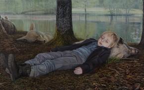 Картинка картина, The Island, норвежский художник, Christer Karlstad