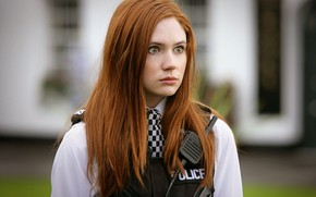 Обои Девушка, Взгляд, Girl, Глаза, Актриса, Police, Рыжая, Doctor Who, Beauty, Eyes, Доктор Кто, Красивая, Redhead, ...