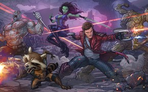 Картинка енот, art, marvel comics, Patrick Brown, Rocket, PatrickBrown, raccoon, Peter Quill, Star-Lord, Guardians of the …