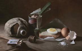 Картинка яйцо, спички, хлеб, соль, закуска, фляжка